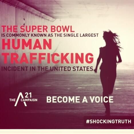 #HumanTrafficking at the #SuperBowl is Rampant. Its coming to Houston This year! Be careful.