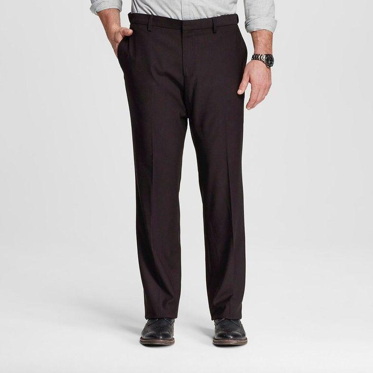 Men's Big & Tall Classic Fit Suit Pant Black 44X29 - Merona, Ebony