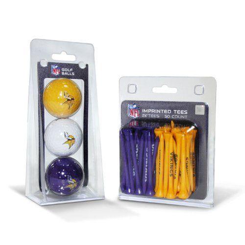 NFL Minnesota Vikings 3 Pack Golf Balls (50 Pack Team Tees) by Team Golf. $17.99. NFL Minnesota Vikings 3 Pack Golf Balls (50 Pack Team Tees)