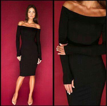 Платье с открытыми плечами #7pm 699 грн • рукав длинный через палец • итальянский трикотаж • цвет: чёрный, серый • размеры: S, M, L.
