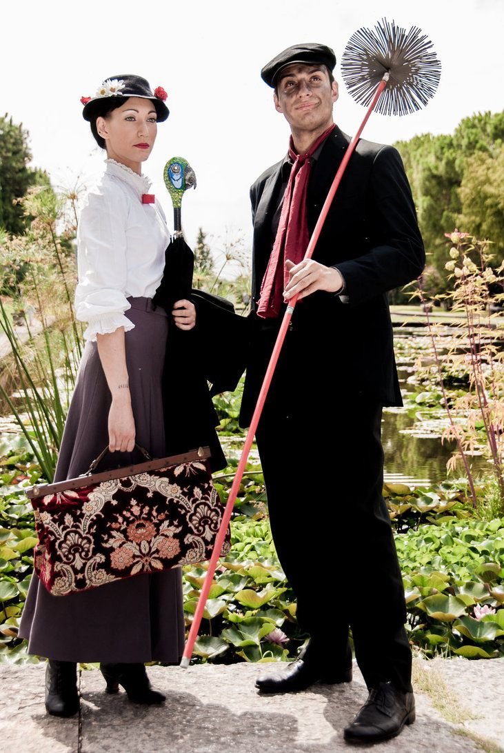 Mary Poppins and Bert: together we can, always by *Bewitchedrune on deviantART