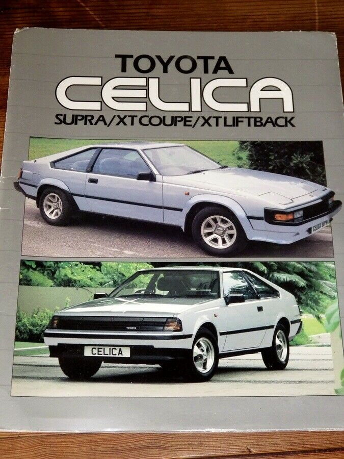 Details about TOYOTA CELICA SUPRA Original 1980s CAR BROCHURE (With