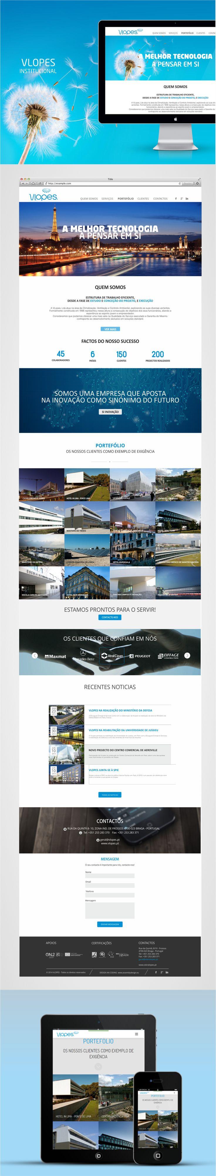 Website Vieira & Lopes #webdesign #Climatização #website responsivo #ComunicaDigital