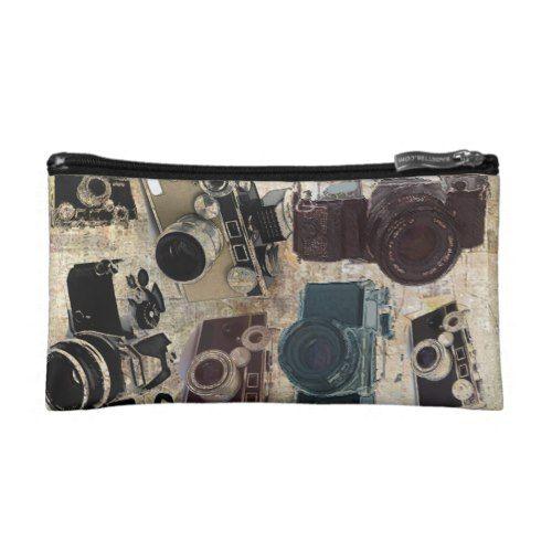 Grunge photographer photography Vintage Camera Makeup Bag