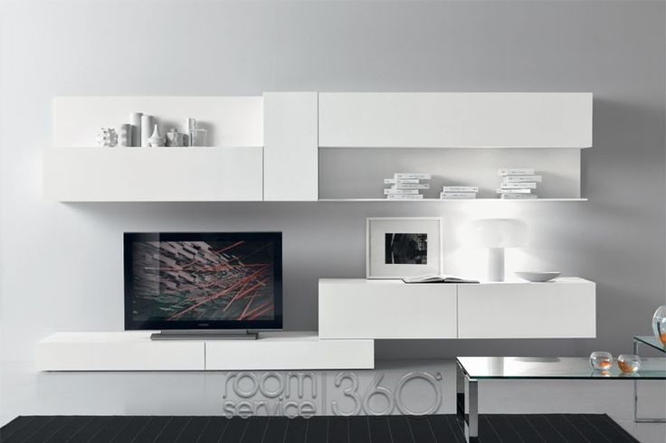 Modus 70 ultra modern wall unit by presotto 18482 for Ultra modern living room furniture