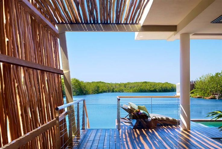 Deluxe Overwater Lagoon Suite with a lake view at Rosewood Mayakoba in Playa del Carmen, #Mexico.