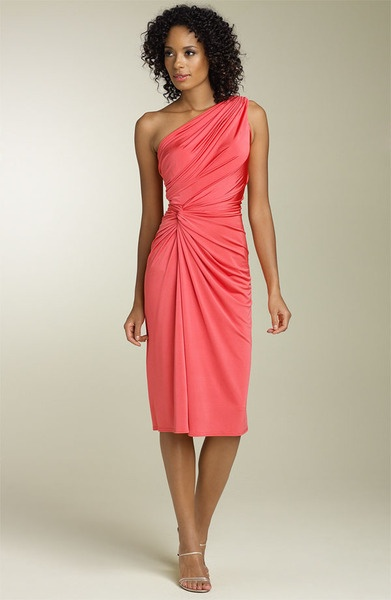 Coral Bridesmaid dresses...wonder if it comes in grey?