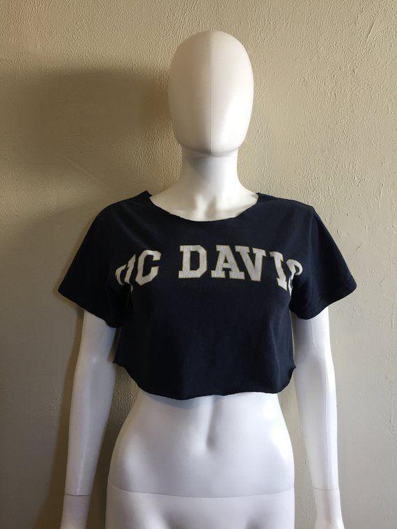 c96175c8cbb UCD University California UC Davis crop top half t shirt college ...