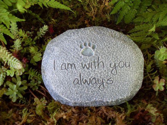 Dog Cat Pet Memorial Garden StoneDog Memorial by LaurelsFairyDoors