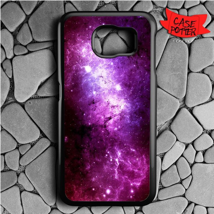 Purple Space Samsung Galaxy S6 Black Case