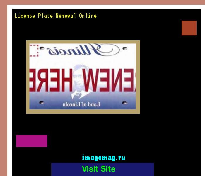 License plate renewal online 190252 - The Best Image Search