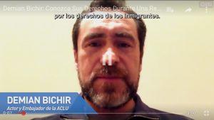 Demian Bichir enseña a migrantes a enfrentar una redada