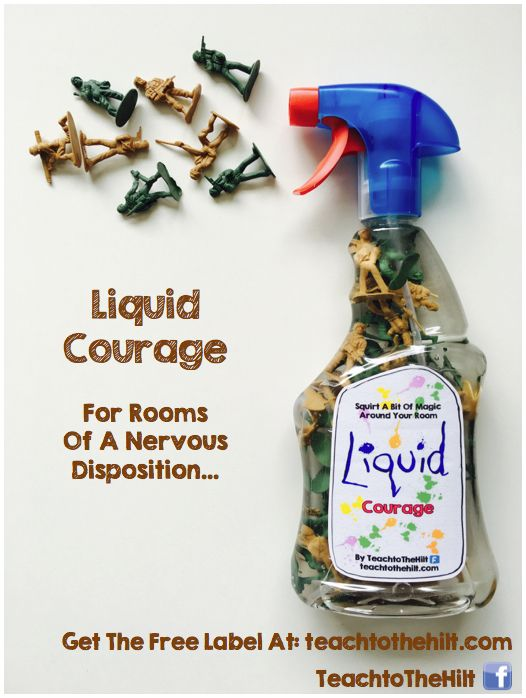 Liquid Courage - A twist on the traditional 'Quiet Spray' :)