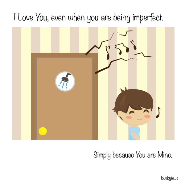 #Love is loving you for your perfect imperfections.