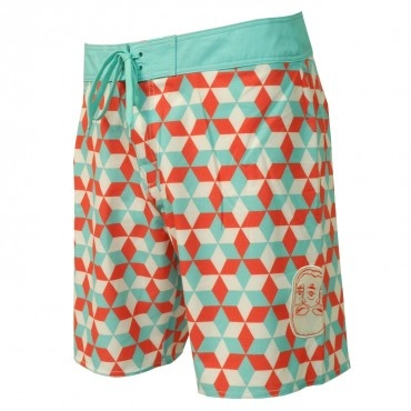 #RVCA Mens Boardshorts Barry Trunk Teal Orange