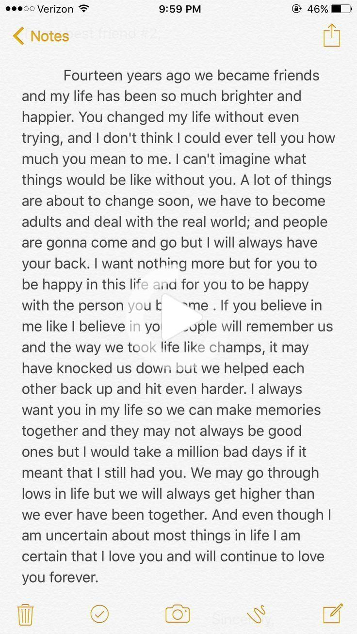 Me and my best friend are graduating from high school and I write