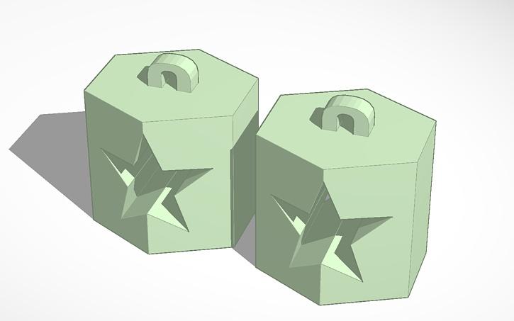 Earings Star in Prism