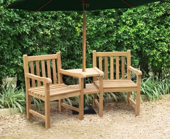 windsor teak garden companion seat garden love bench