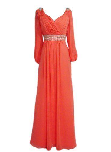 Alivila.Y Fashion V Neck Long Sleeve Chiffon « Dress Adds Everyday  Make it REALLY RED.
