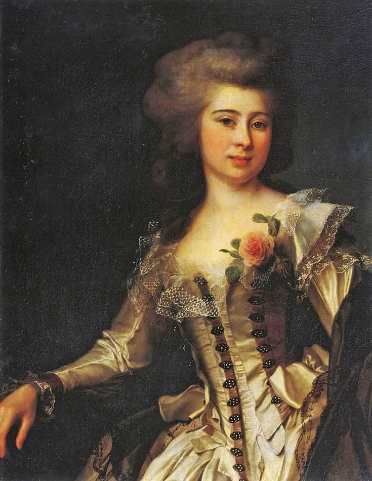 An unknown woman with a rose (1788)  Date	1788 by Dmitry Grigorievich Levitzky (1735–1822)