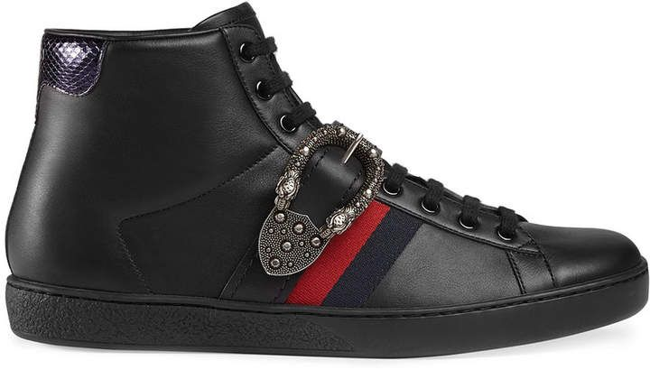 1bd79f29718 Gucci Ace high-top sneakers with Dionysus buckle  Gucci  sneakers  ShopStyle   MyShopStyle click link for more information