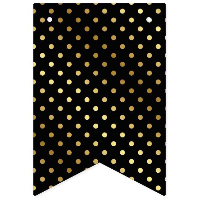 Classic Black Gold Polka Dot Wedding Bunting Flags Ad Affiliate Dot Polka Bunting Wedding In 2020 Polka Dot Wedding Dot Wedding Wedding Classic