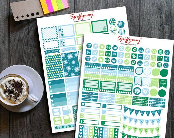 March Planner Stickers  Daily Planner Stickers  by Spiffyway https://www.etsy.com/listing/261366362/march-planner-stickers-daily-planner?ref=listing-shop-header-3