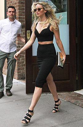 Jennifer Laurence wearing Jimmy Choo DULSA sandals love them and the outfit