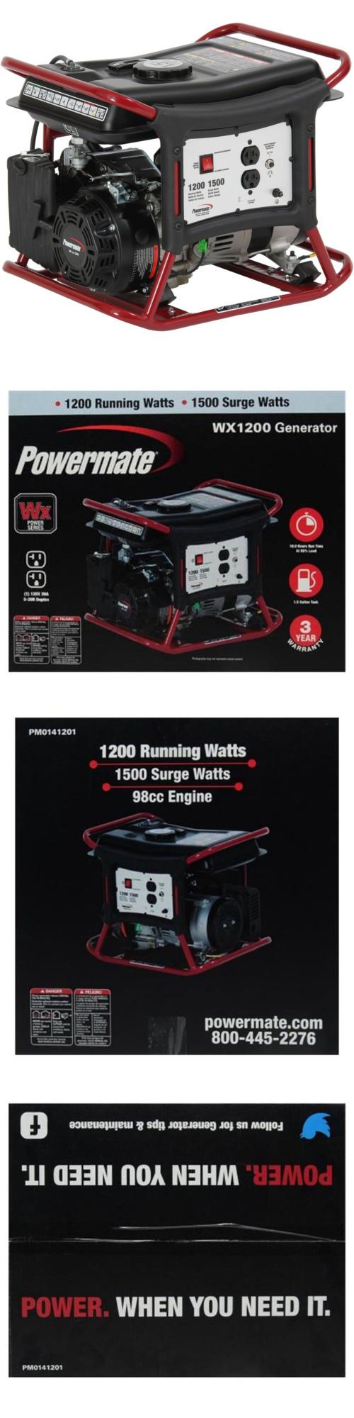 Generators and Heaters 16039: New Powermate Wx1200 Portable Generator Powermate Standby Home Power -> BUY IT NOW ONLY: $253.84 on eBay!