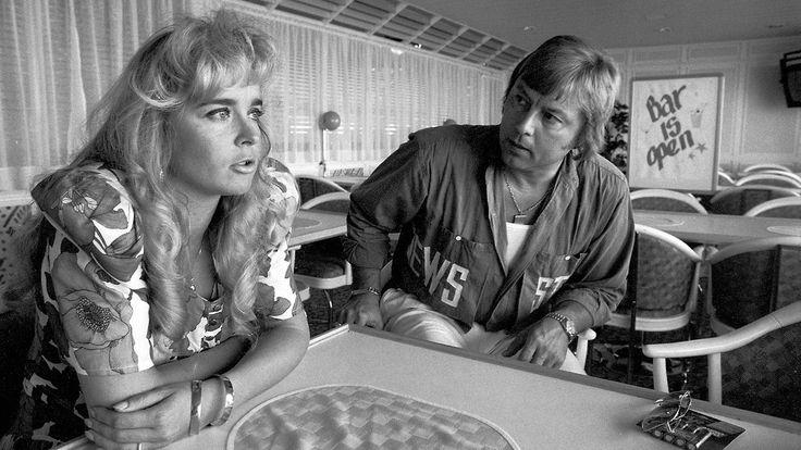 Armia ja Dannya haastateltiin Isabella-laivalla elokuussa vuonna 1990. Kaksikolla oli oma show Viking Linen aluksilla. Copyright: Lehtikuva.