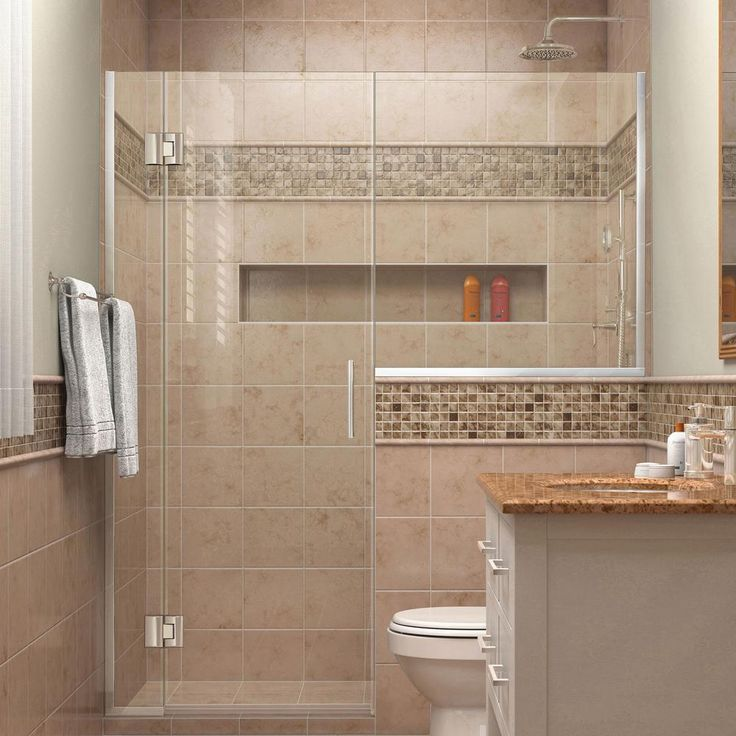 DreamLine Unidoor-X 66 in. to 66-1/2 in. x 72 in. Frameless Pivot Shower Door in Chrome with Buttress Panel