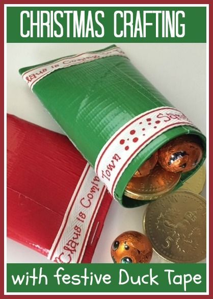 Christmas crafts with Duck tape