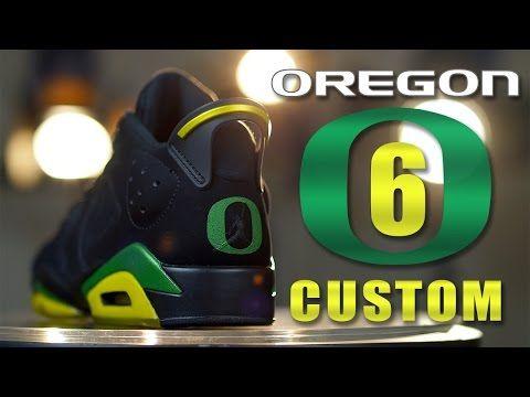 317fff74157 Custom Air Jordan 6's: Oregon Ducks - Restorations with Vick Almighty. -  YouTube