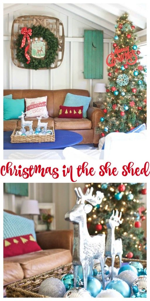 Christmas in the She Shed | 2 Bees in a Pod Holiday | Shed ...