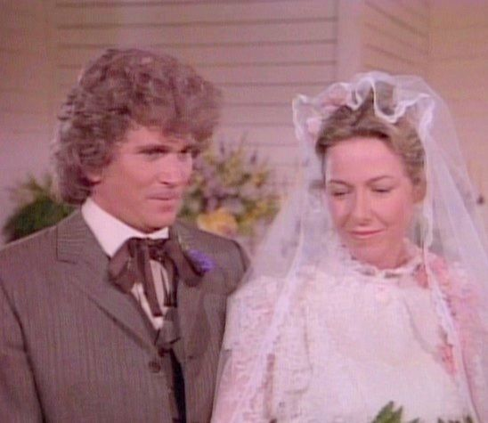 Little house on the prairie charles and caroline renewal for Laura ingalls wilder wedding dress