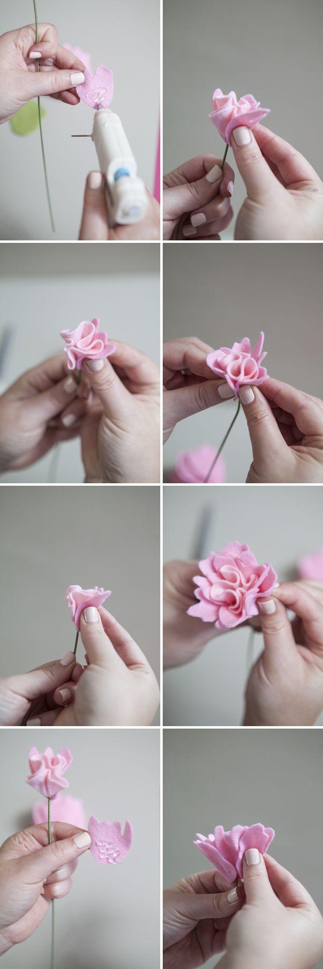 Si buscas decorar un rincón de tu casa, estas flores con paño lenci pueden resultar una excelente alternativa.