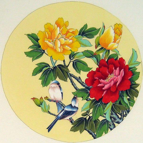 Tranh thủy mặc vẽ chim – bird topic brush painting