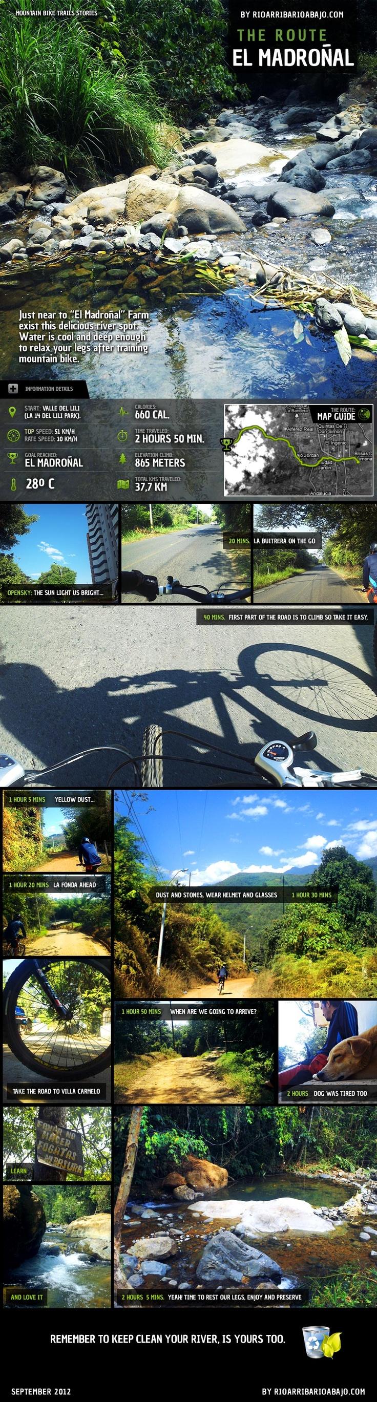 "Ruta ""El Madroñal"", river spot for mountain bikers"