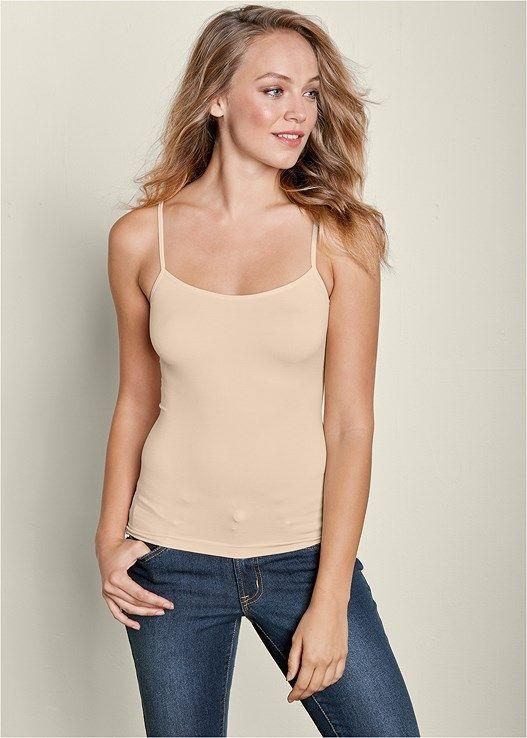 Venus Women's Seamless Cami Tops - Neutral, Size XL