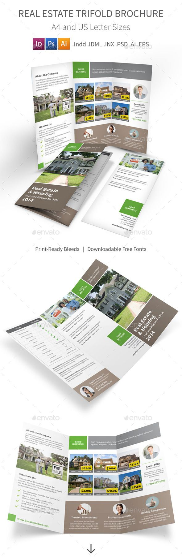 real estate trifold brochure by mike_pantone save with bundle real estate print bundle is