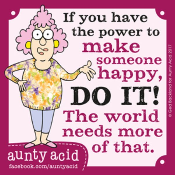 Aunty Acid for 8/31/2017