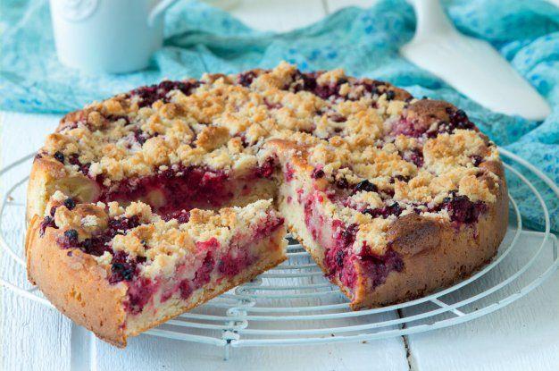 Bleskový ovocný koláč s drobenkou
