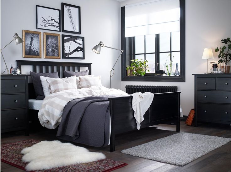 Hemnes Collection Black White Bedroom From Ikea