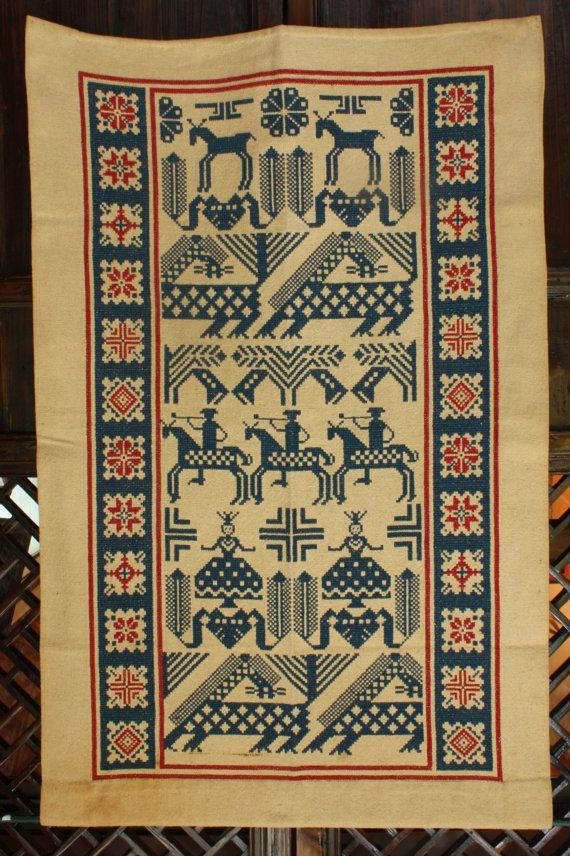 Vintage Scandinavian Tapestry or Wall by TravelersandTraders