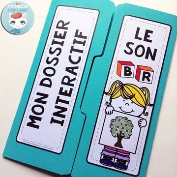 French Phonics Resources: dossier interactif – le son BR. French interactive lapbook to practice the sound BR, as in arBRe, BRosse, zèBRe etc