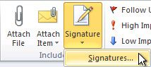 how to add facebook, twitter, linkedin, ariba, etc buttons to your outlook signature
