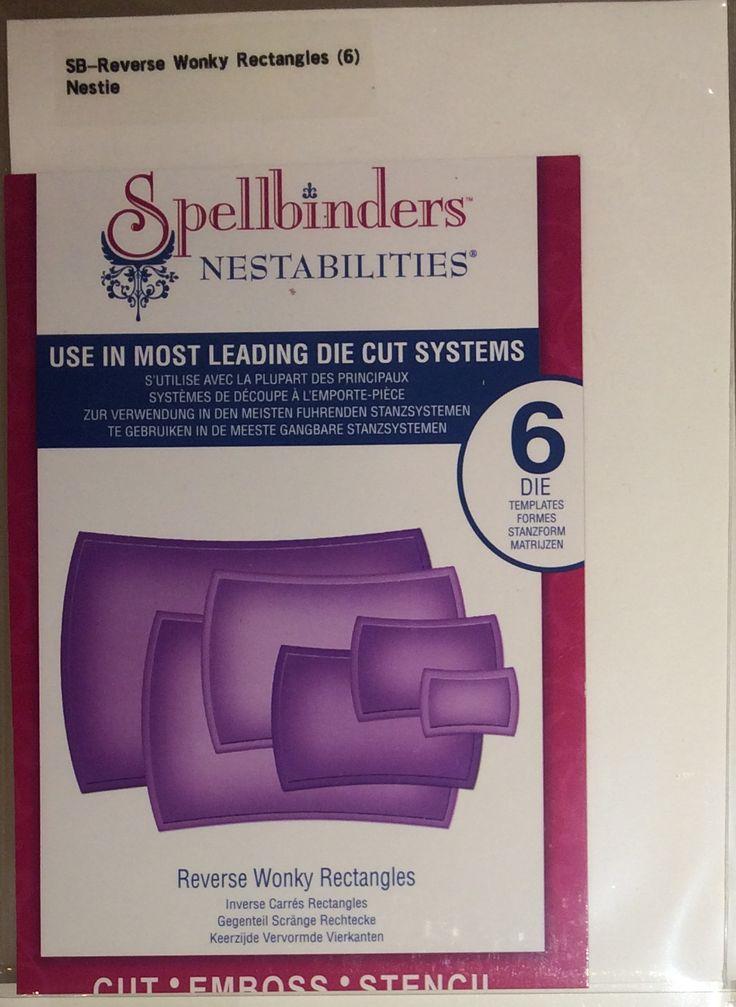 $8 - Spellbinders: Reverse Wonky Rectangles