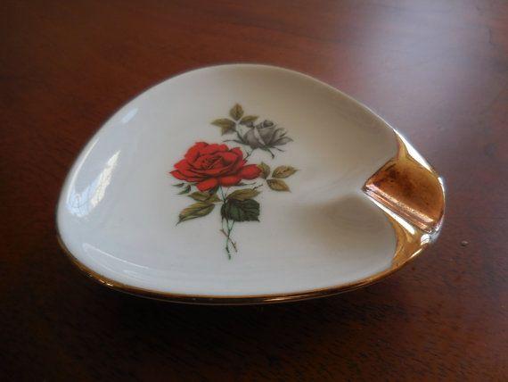 1950. Small porcelain ashtray german porcelaine by VintagetoFrance
