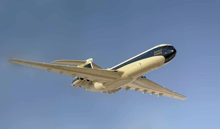 Gorgeous BOAC Vickers VC10 Gracing the Skies — www.facebook.com/VintageAirliners ~✈