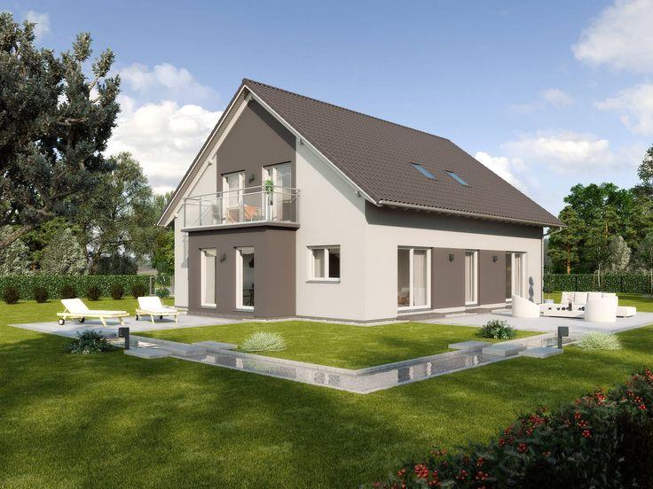 26 besten doppelhaus bilder auf pinterest flachdach for Zweifamilienhaus grundriss fertighaus